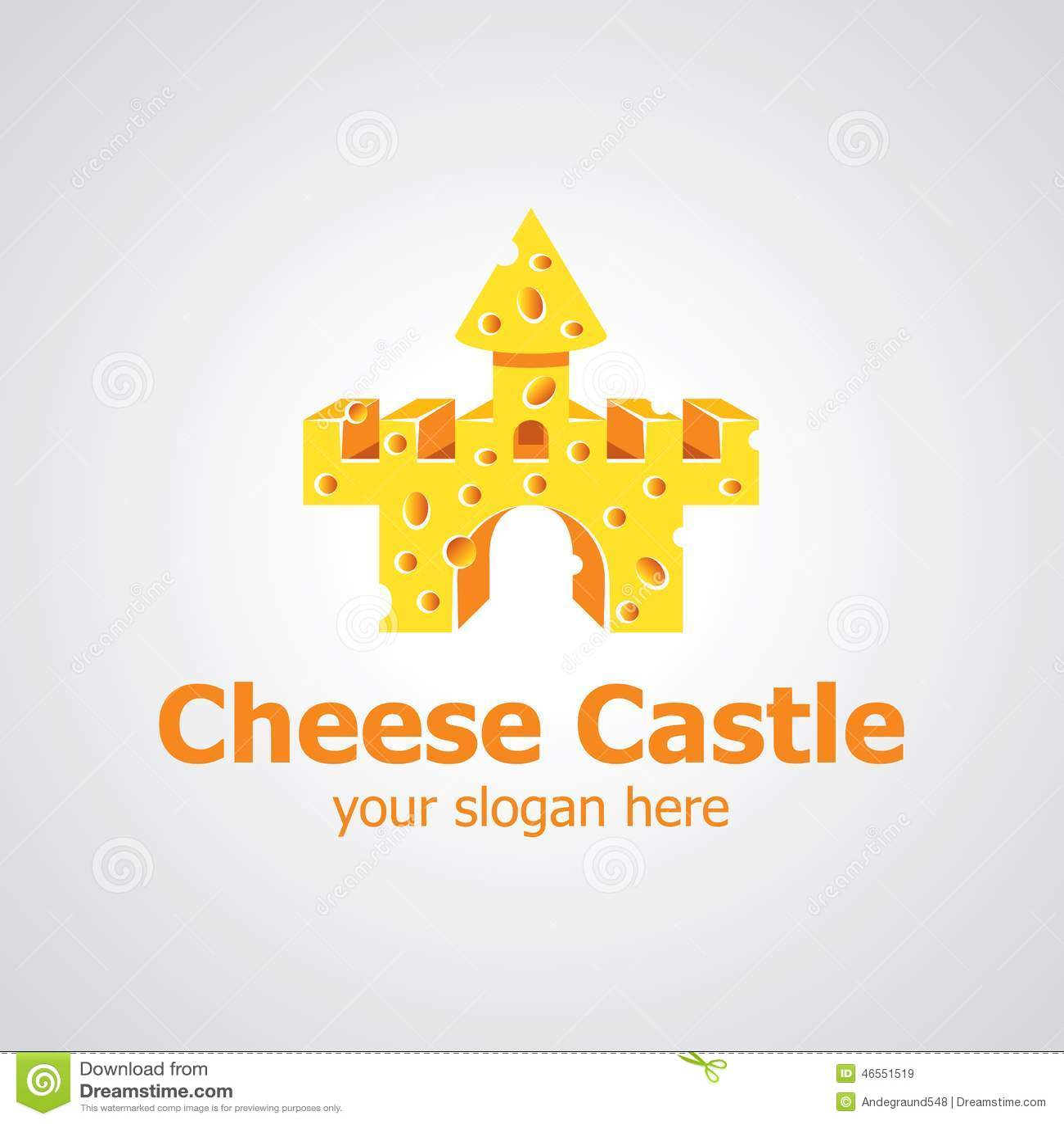cheese castle vector logo design stock vector - image: 46551519