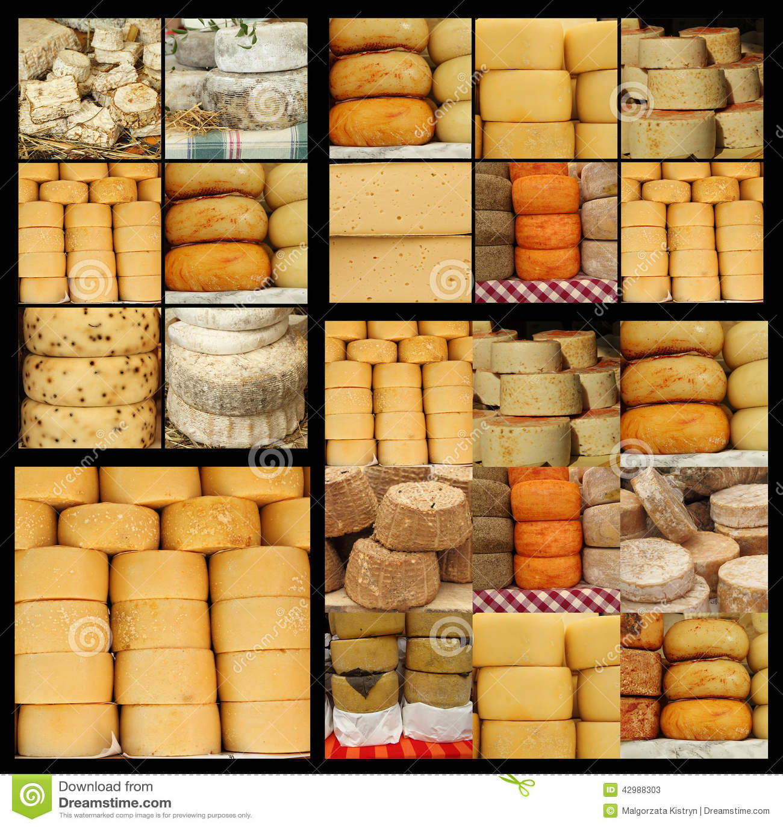 Cheese Collage Stock Image Cartoondealer Com 42988303