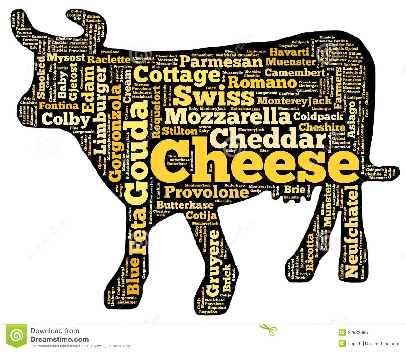 Cheese cow stock illustration  Illustration of meal, eating