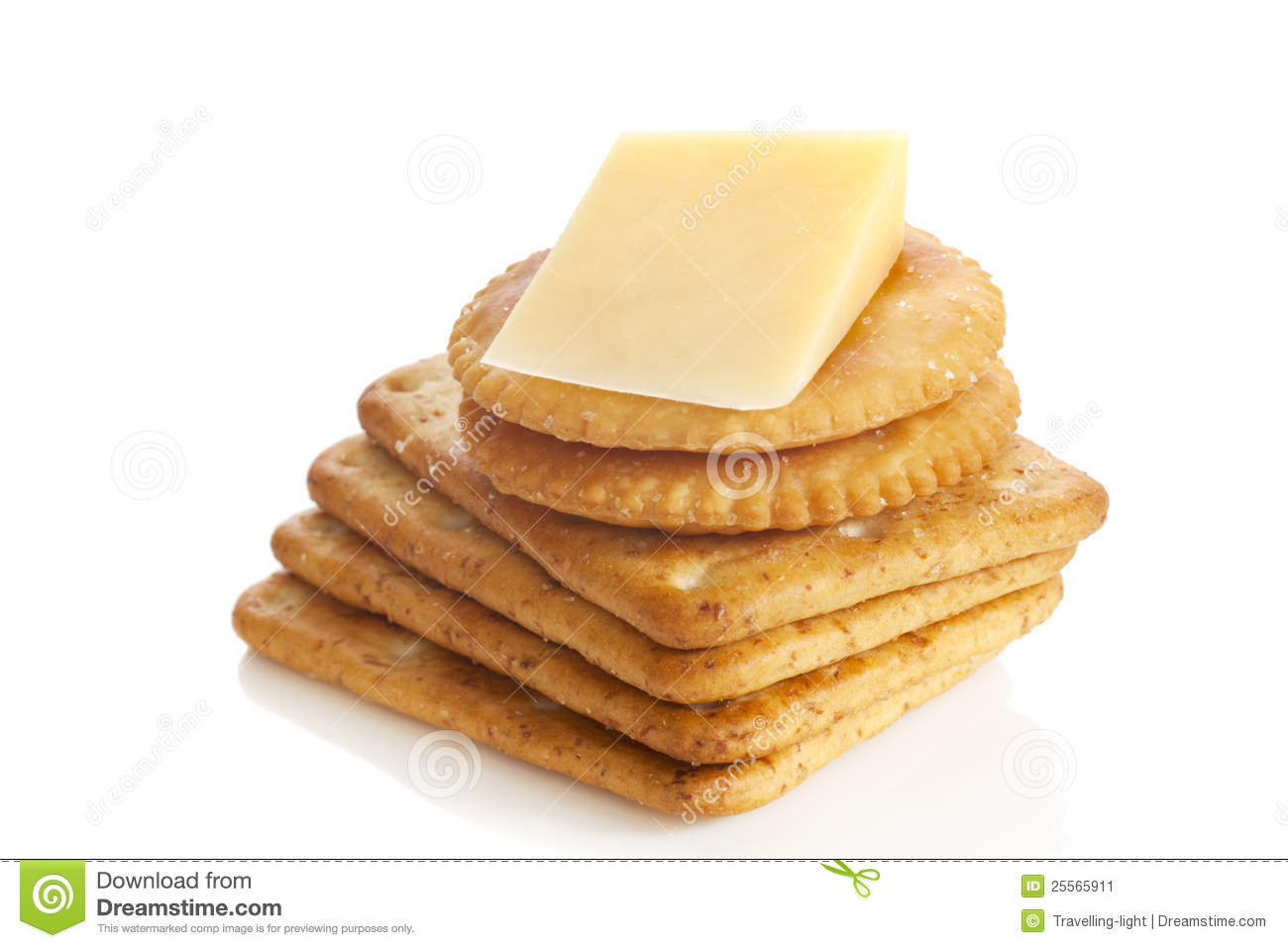 Cheese And Crackers Stock Image. Image Of Horizontal