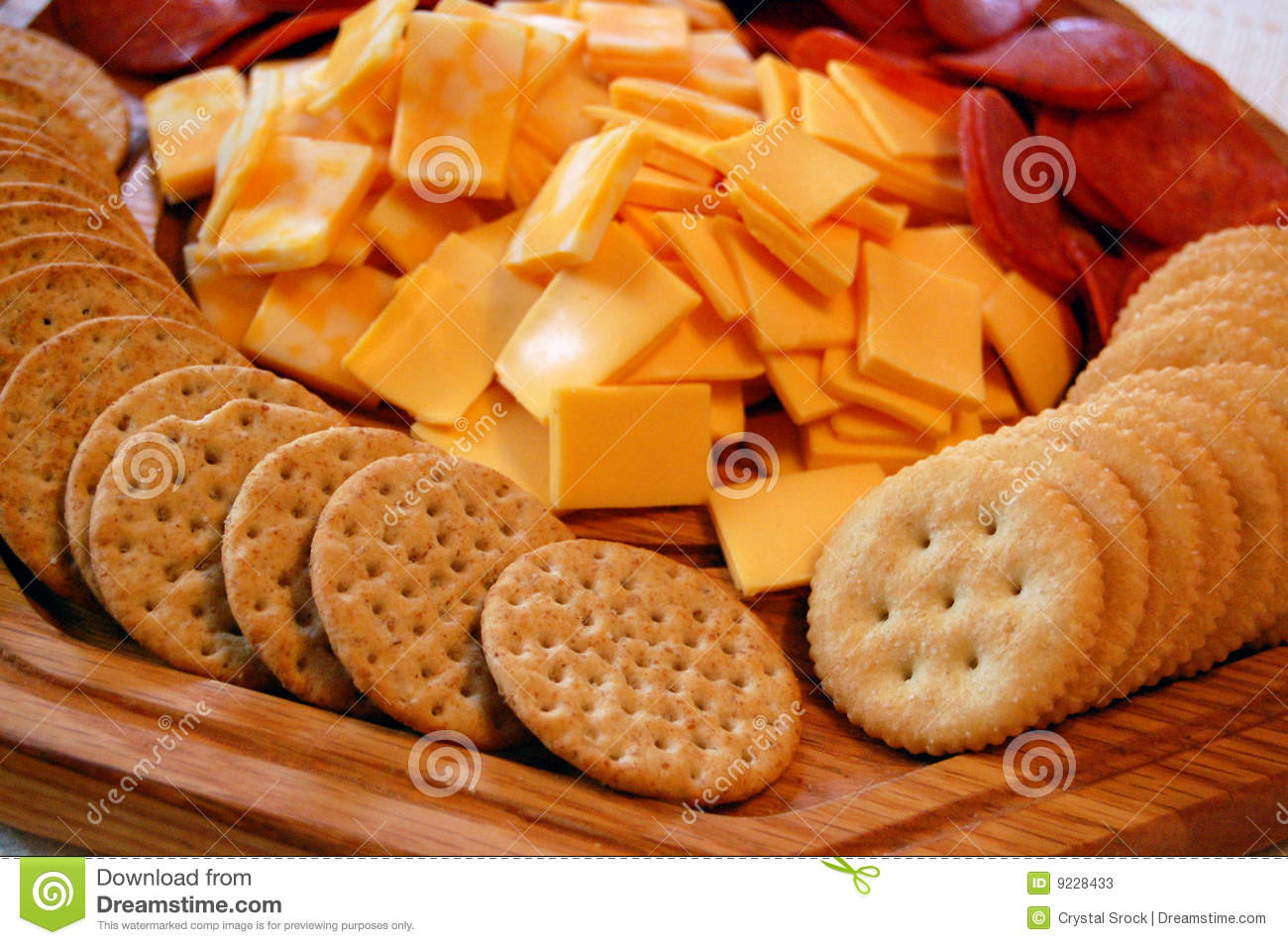 Cheese And Crackers Stock Image. Image Of Assortment