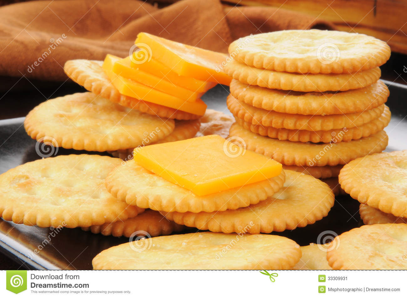 Cheese And Crackers Stock Image Image 33309931