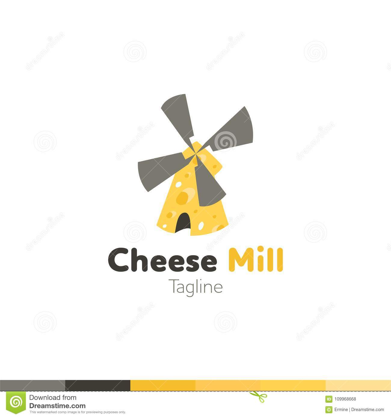 Cheese mill logo restaurant logo food and cooking logo vector cheese mill logo restaurant logo food and cooking logo vector maxwellsz