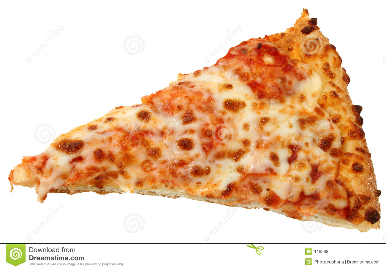 Cheese Pizza Slice Over White Background Royalty Free Stock Photos ...