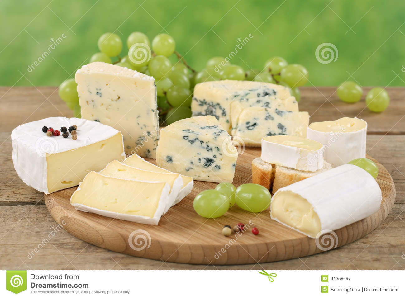 Download comp & Cheese Plate With Camembert Soft Cheese And Brie Stock Image ...