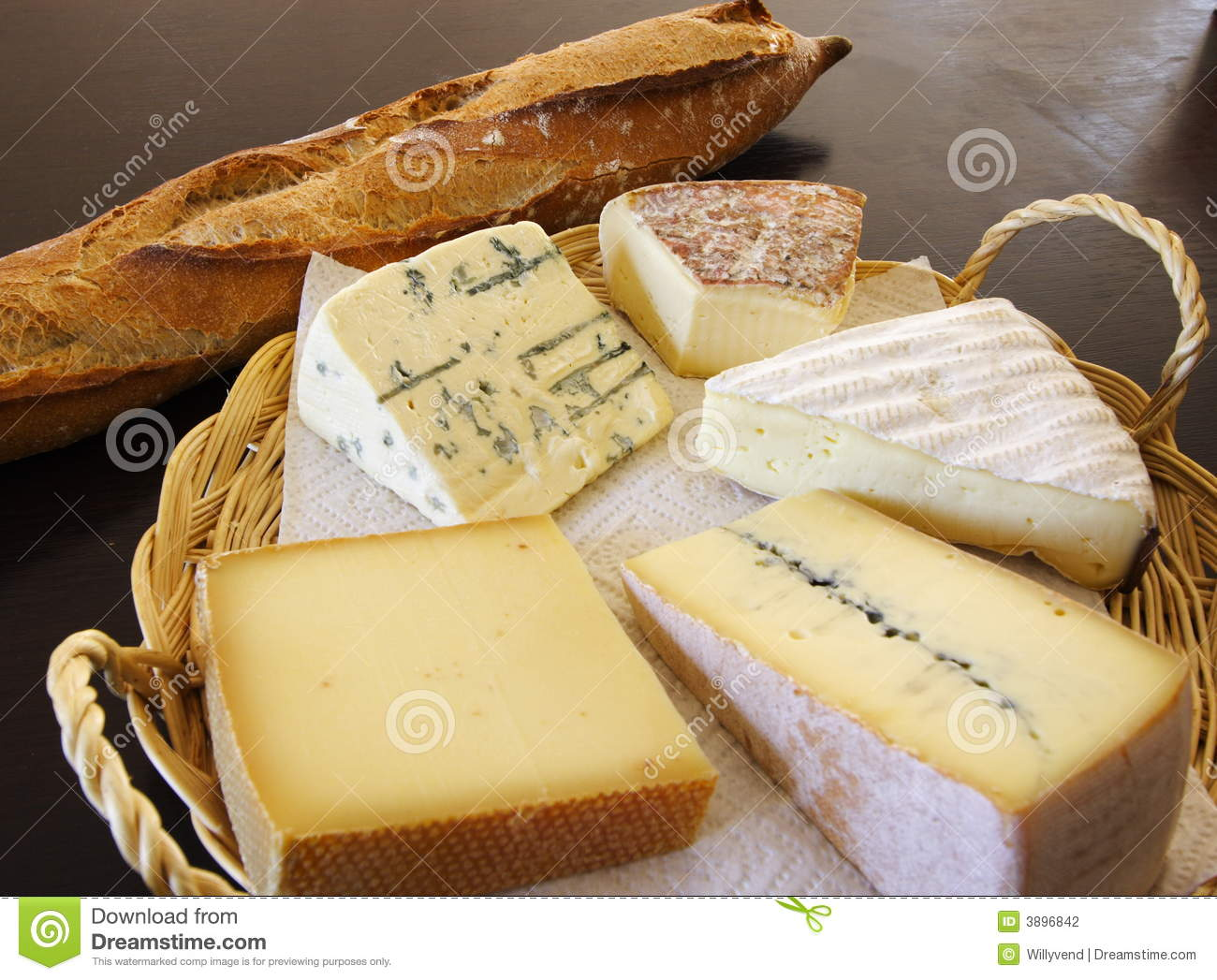 Cheese platter and a baton bread & Cheese Platter And A Baton Bread Stock Photo - Image of healthy ...
