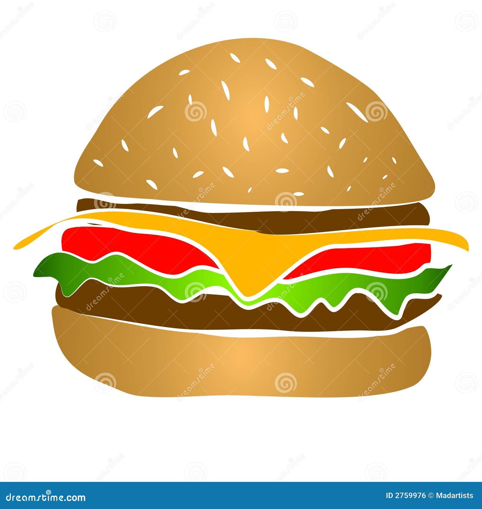 Cheeseburger hamburger clipart royalty free stock image for Hamburger clipart