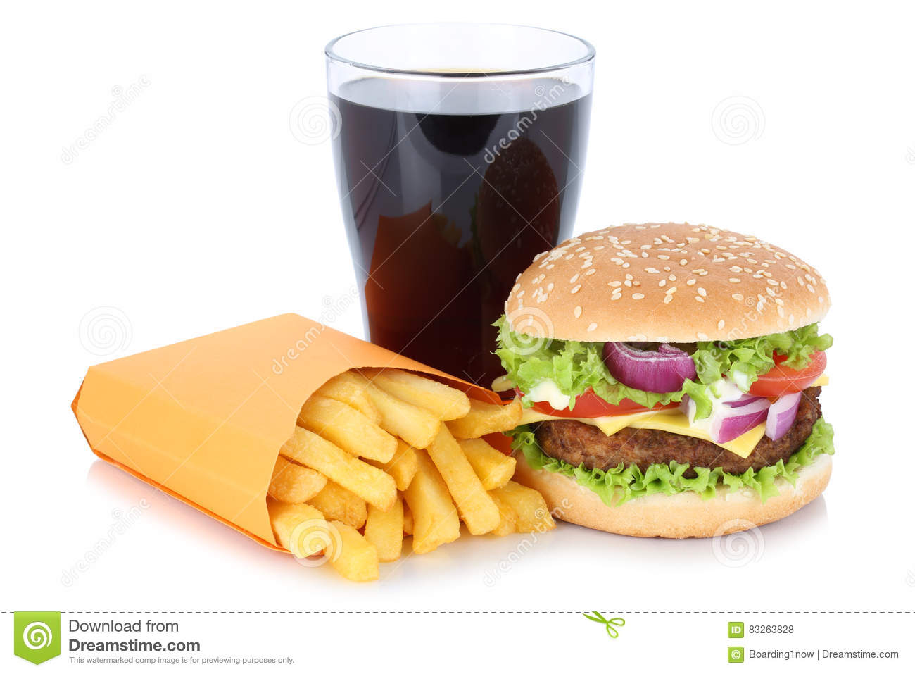Cheeseburger hamburger and french fries menu meal combo for Lean cuisine vs fast food