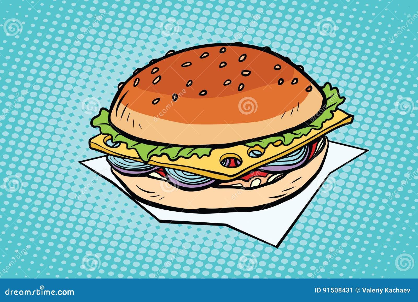 Cheeseburger met uien en kaas