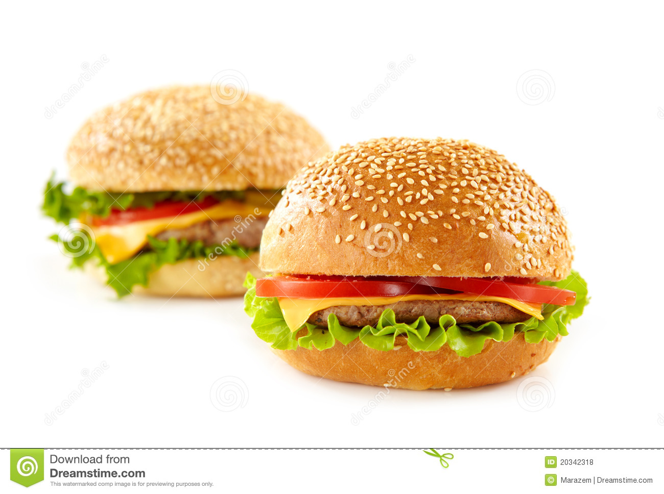 Cheeseburgers Royalty Free Stock Photos - Image: 20342318
