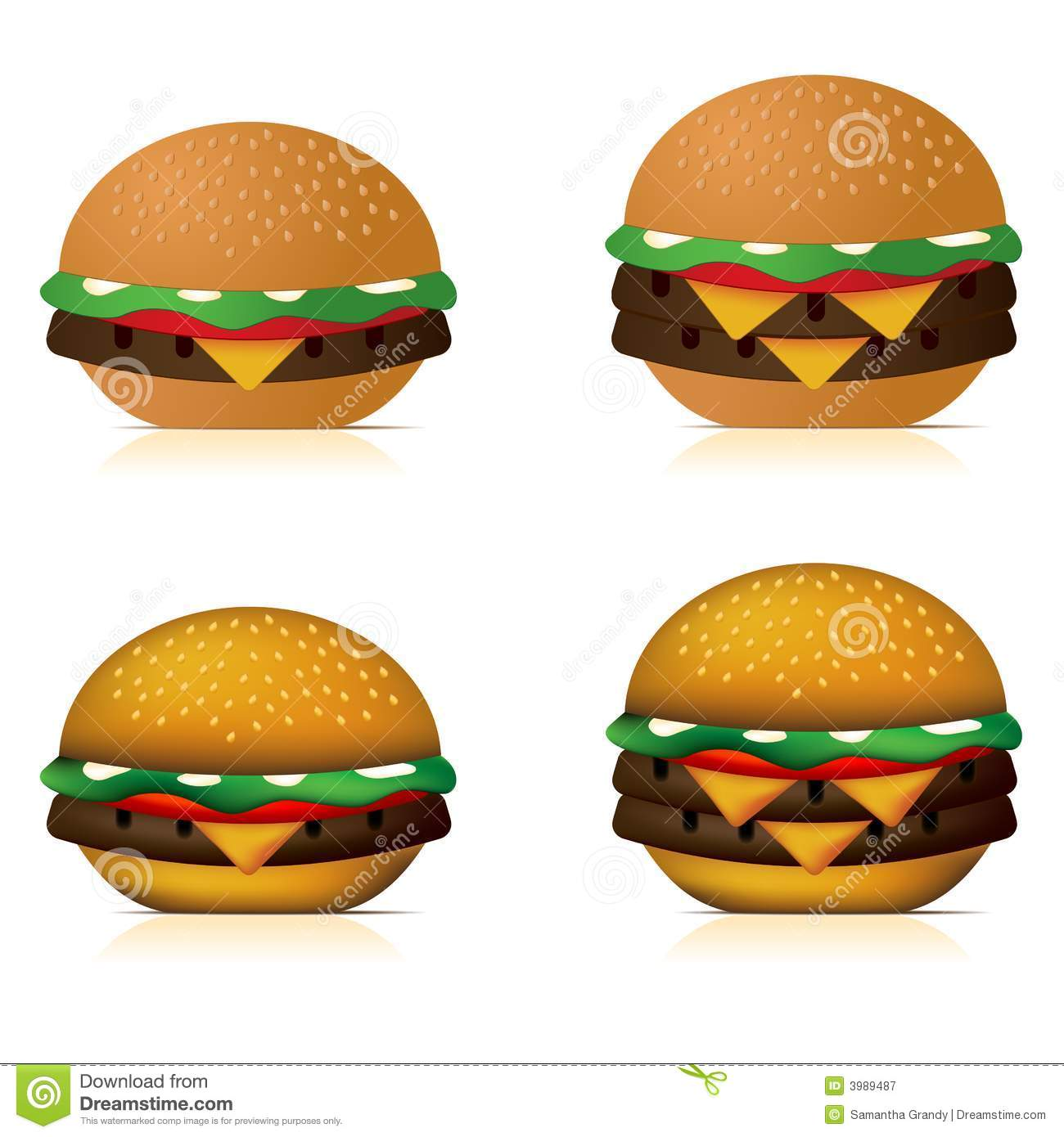Cheeseburgers Royalty Free Stock Photography - Image: 3989487