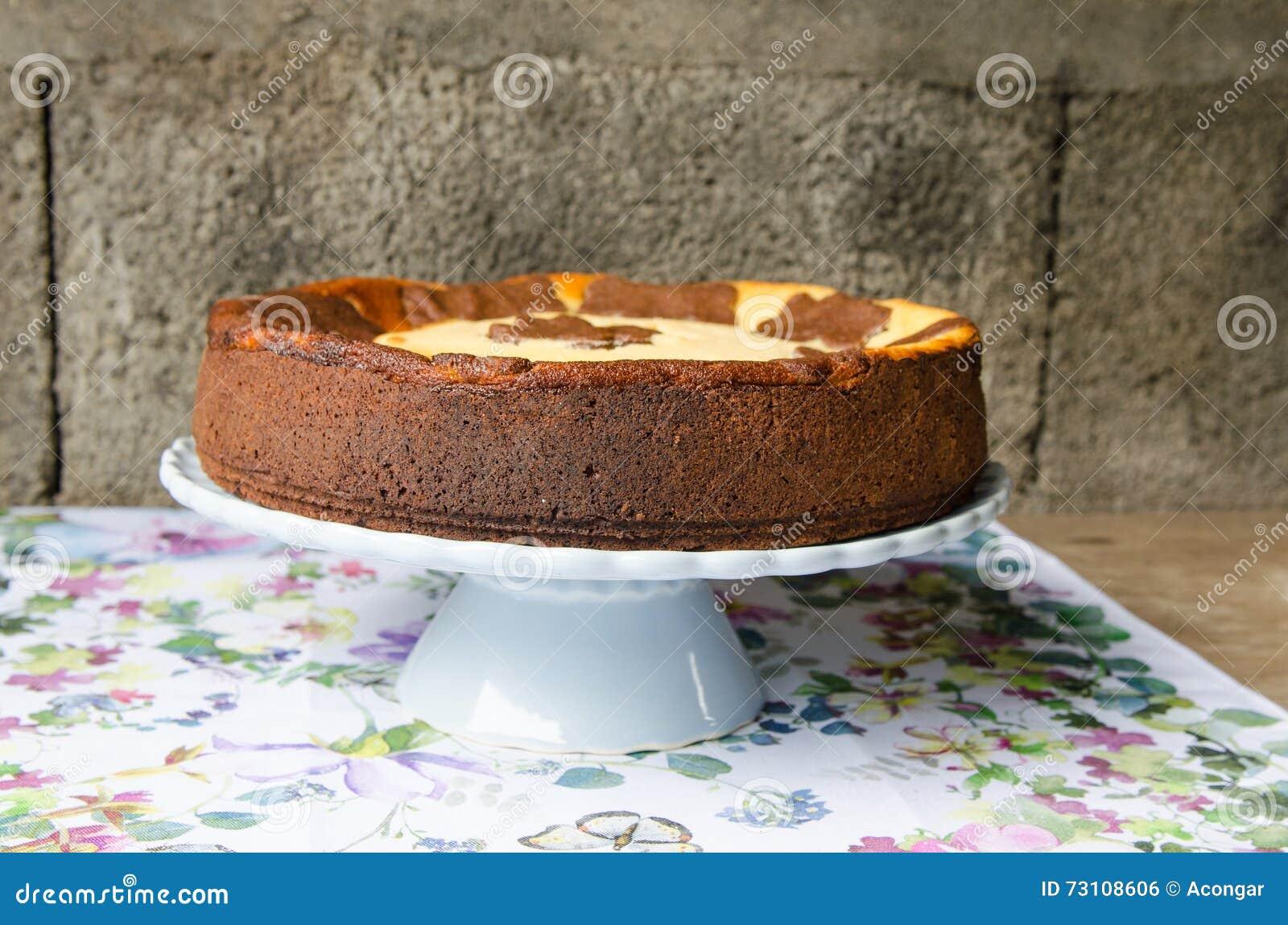 Cheesecake με τη σοκολάτα και τη βανίλια