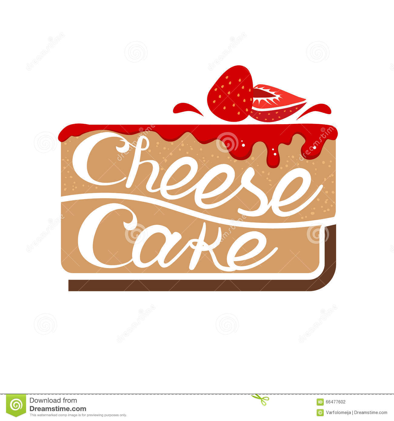Cheesecake Images Clip Art : Cheesecake With Strawberry Jam. Vector Stock Vector ...