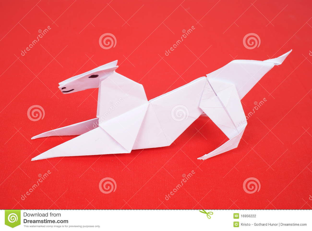 Origami Cheetah Stock Images