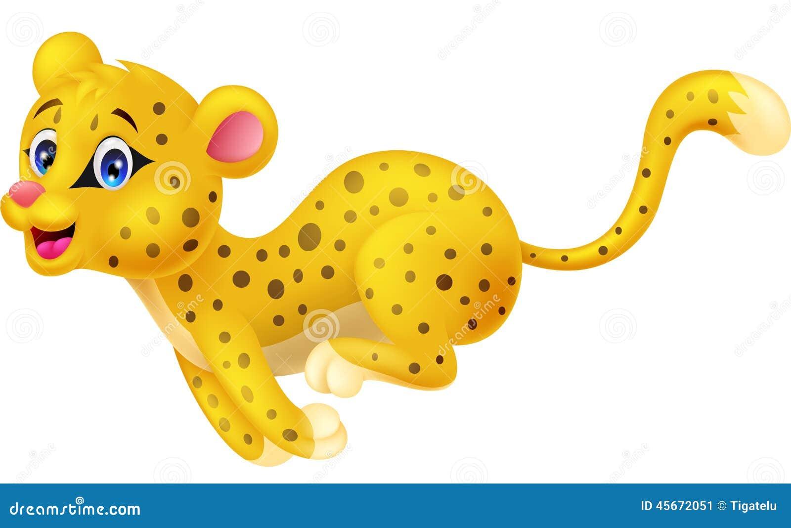 Cheetah cartoon running stock vector. Illustration of ...