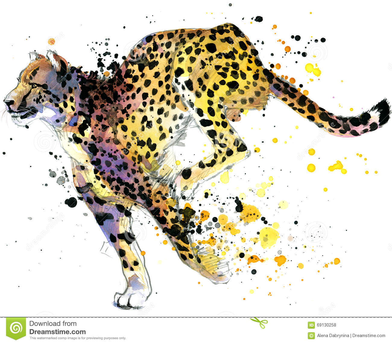 Cheetah Print T Shirt Design