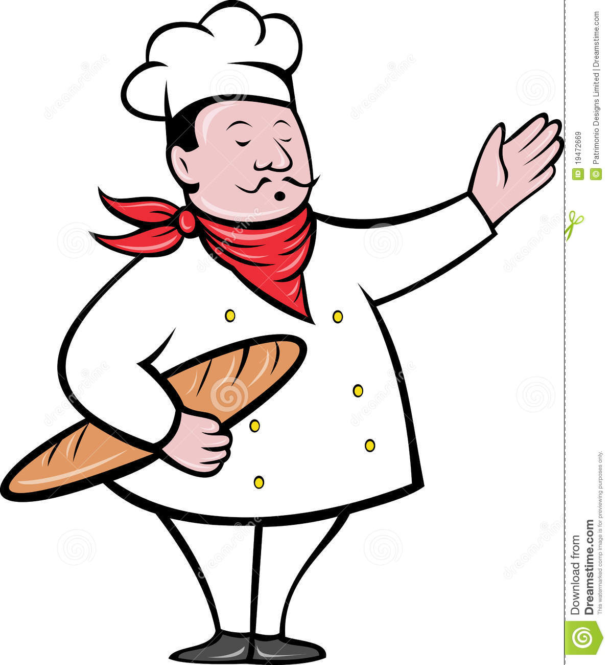 chef baker with bread loaf stock illustration illustration of rh dreamstime com french chef clipart Chef Border Clip Art