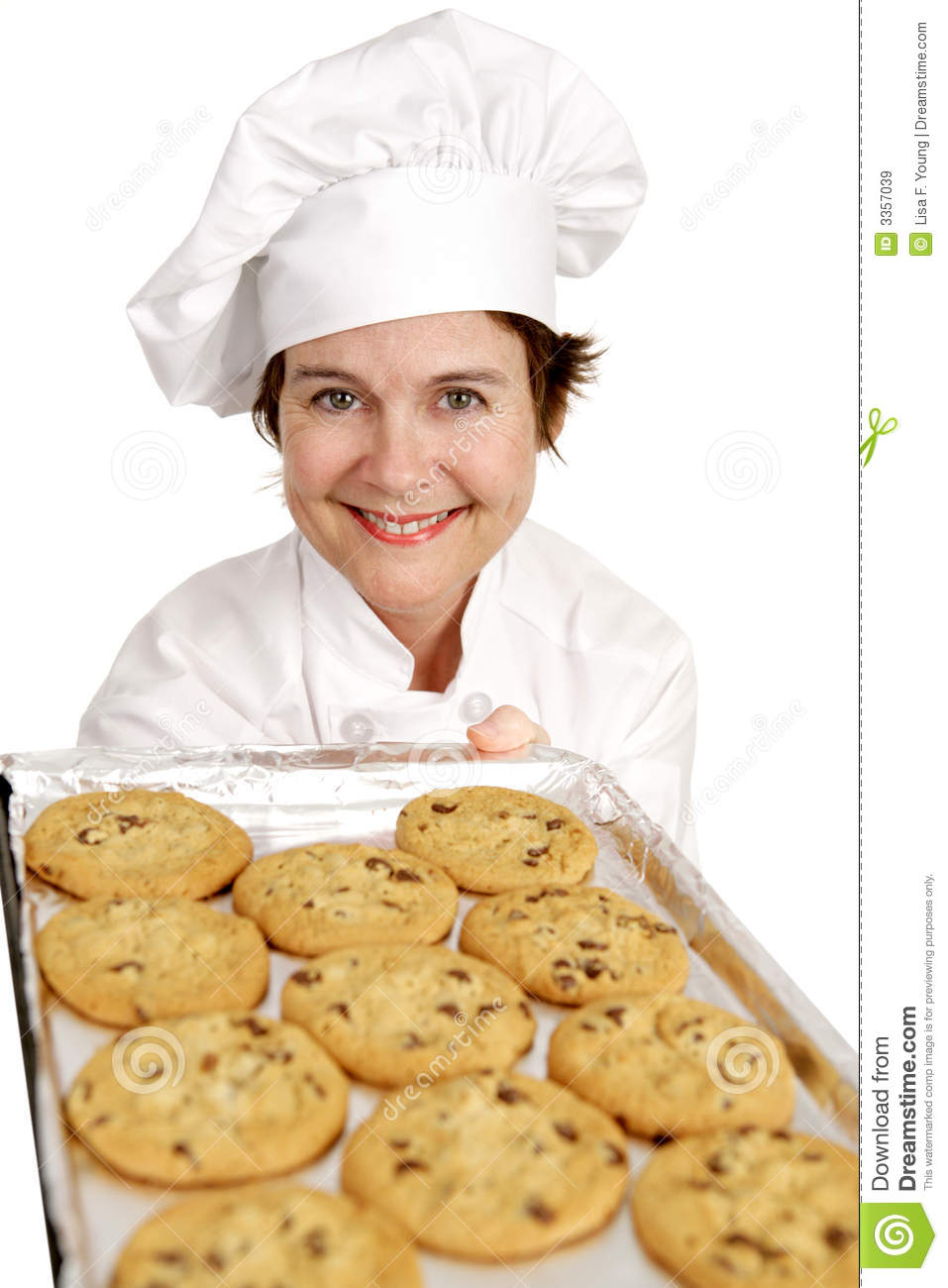 Chef Baking Cookies Stock Image Image Of Mature