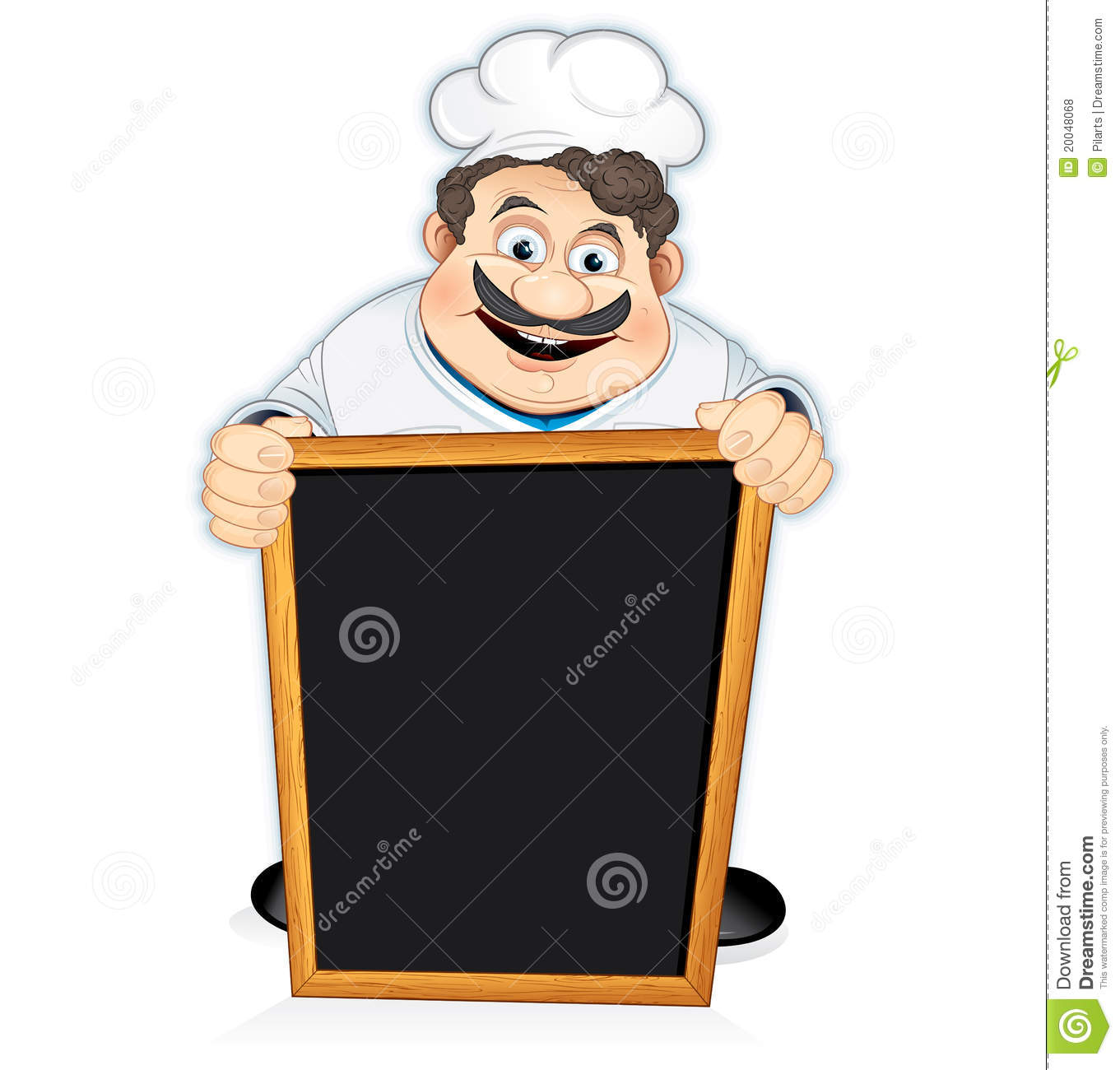 chef with blackboard sign stock vector  illustration of