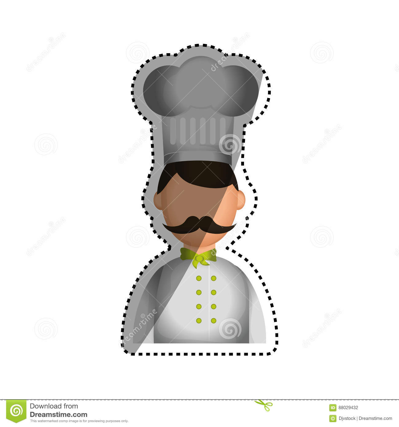 Graphic Design Cartoon Character : Chef cartoon character stock illustration image