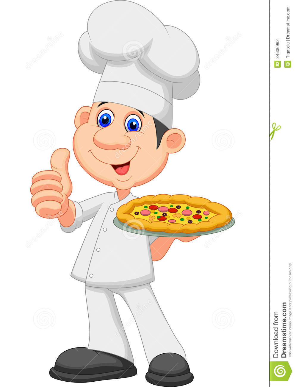 Cartoon Pizza Man Chef cartoon with pizza stock photography - image ...