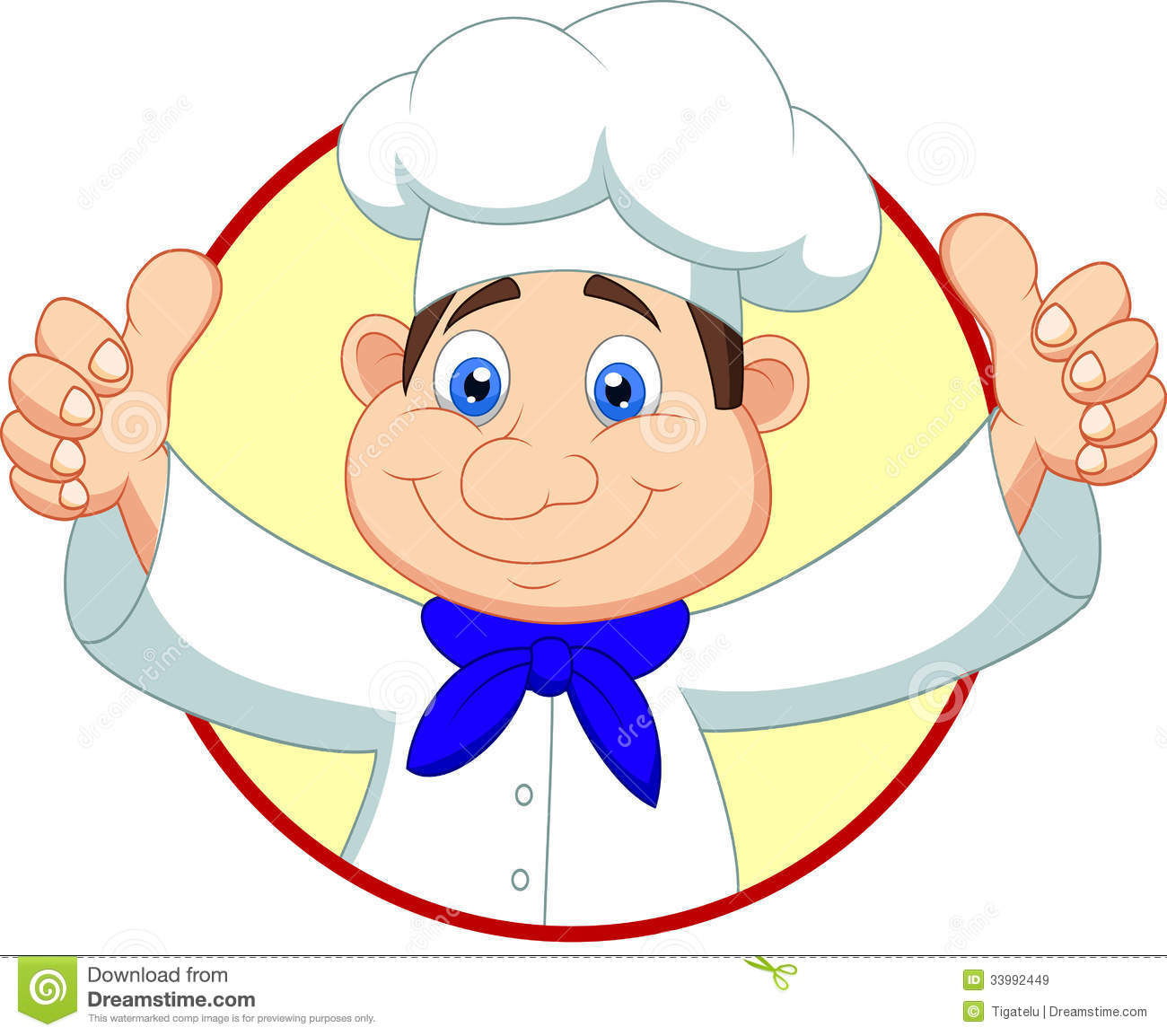 Chef cartoon with thumb up stock vector. Illustration of ...