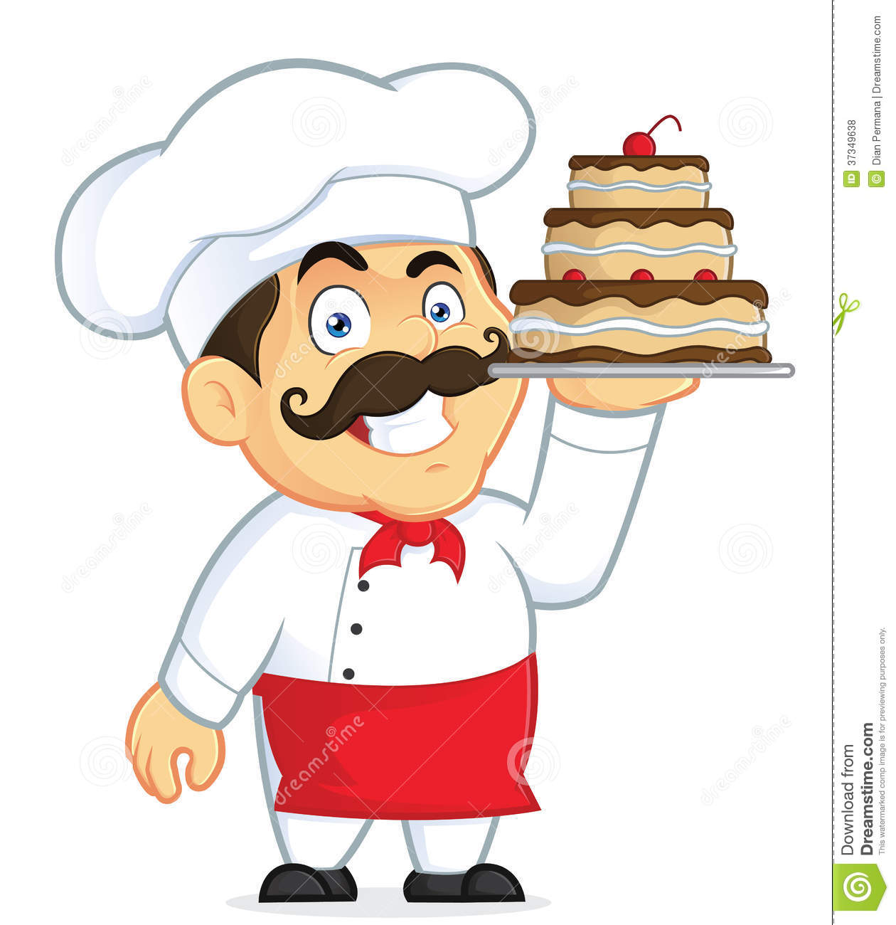 chef with chocolate cake stock vector illustration of chef clipart free download chef clipart images