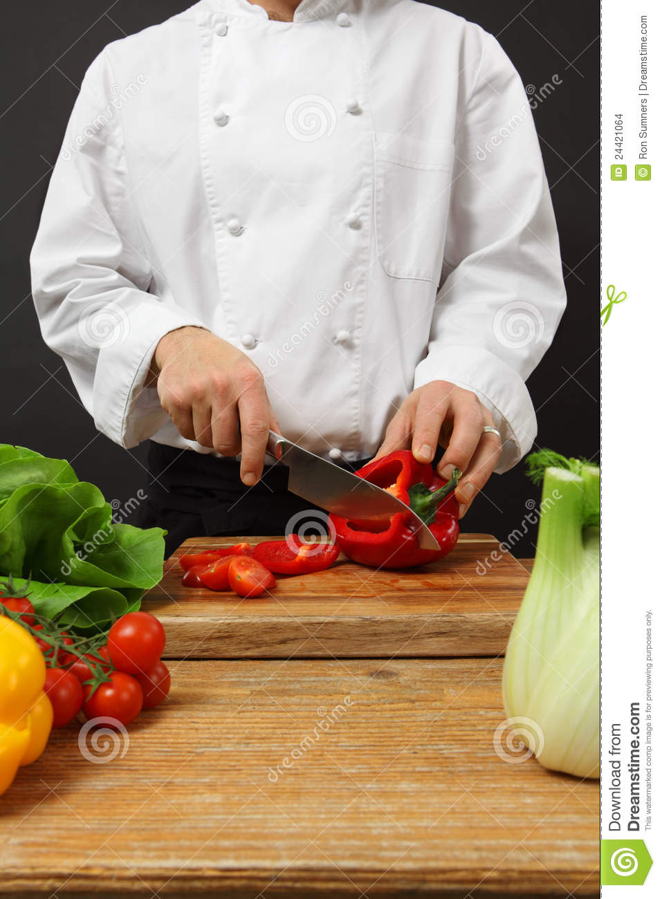 Chef chopping vegetables stock photo. Image of kitchen ...