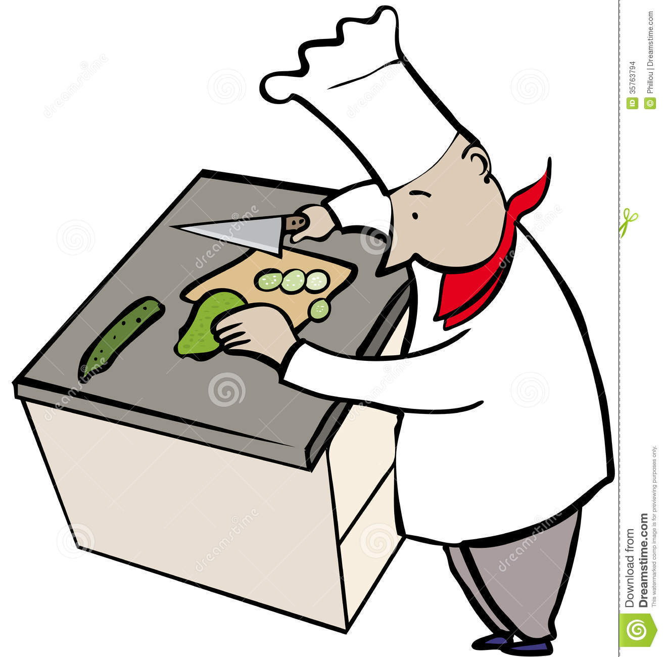 Chef Chopping Stock Images - Image: 35763794