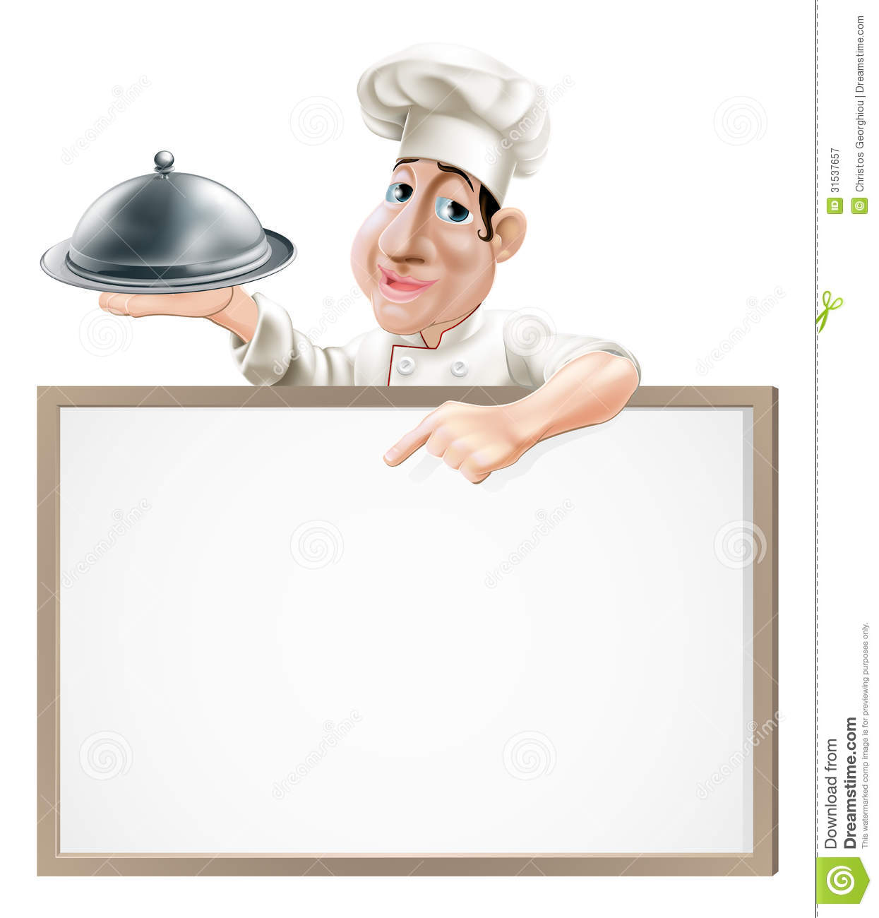 Chef Cloche And Menu Royalty Free Stock Photography - Image: 31537657