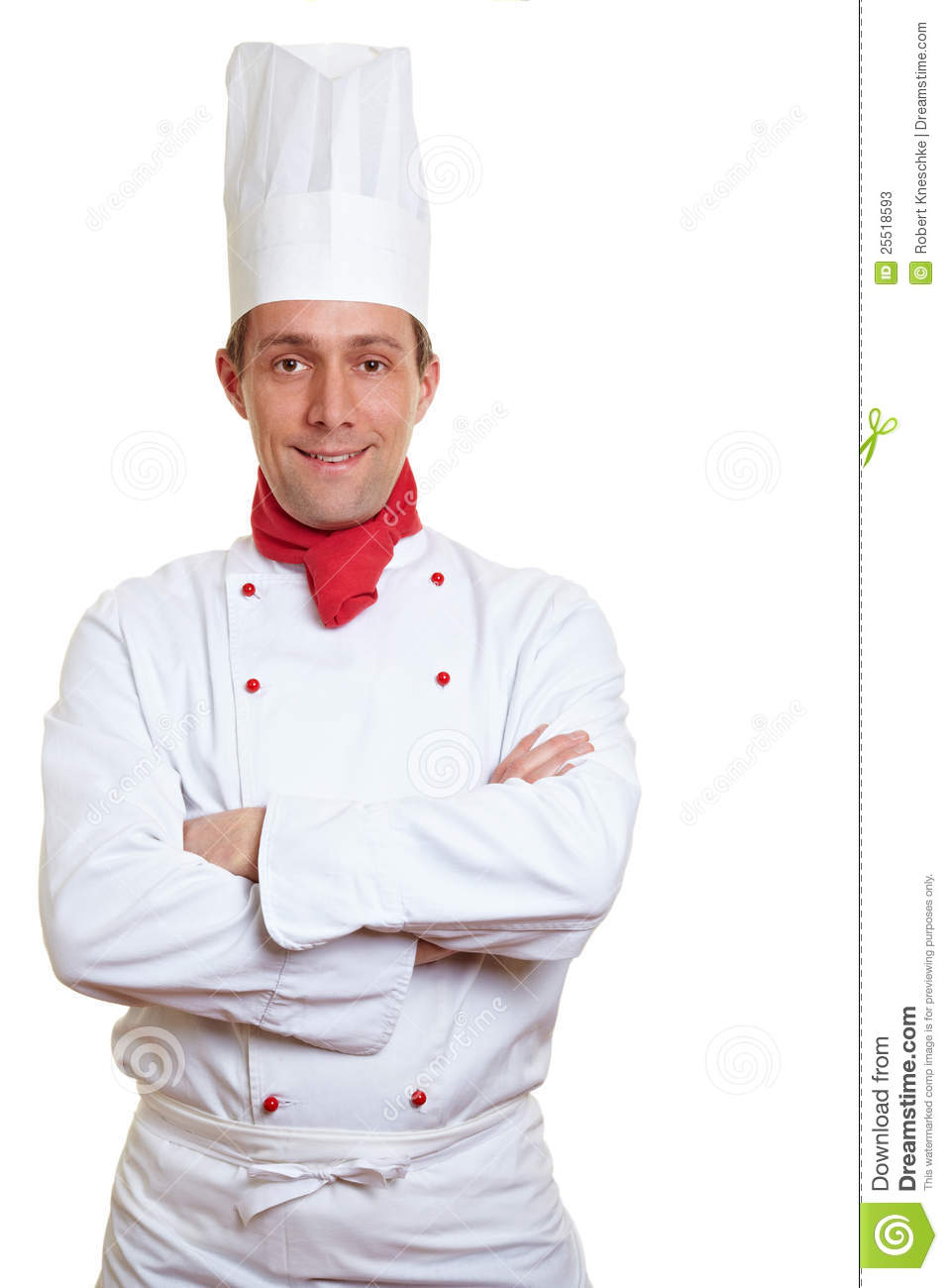chef cook with arms crossed stock image image of restaurant hotel 25518593. Black Bedroom Furniture Sets. Home Design Ideas