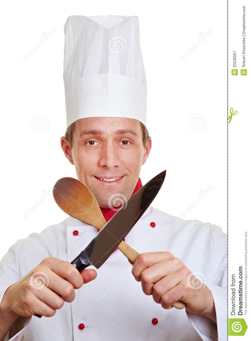 chef cook crossing knife and spoon royalty free stock photography image 25536557. Black Bedroom Furniture Sets. Home Design Ideas