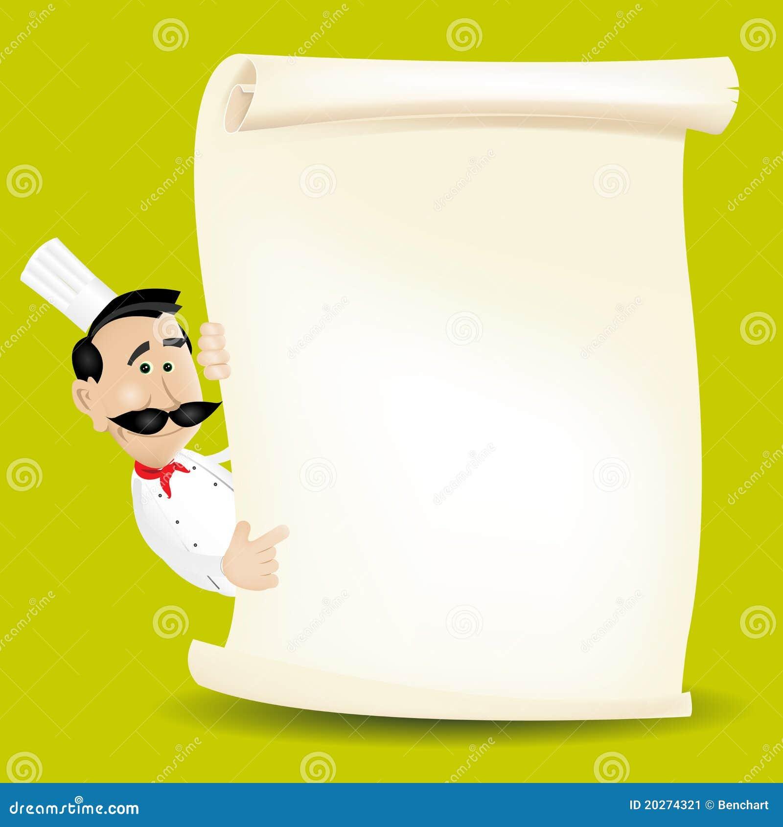 chef cook restaurant menu stock image