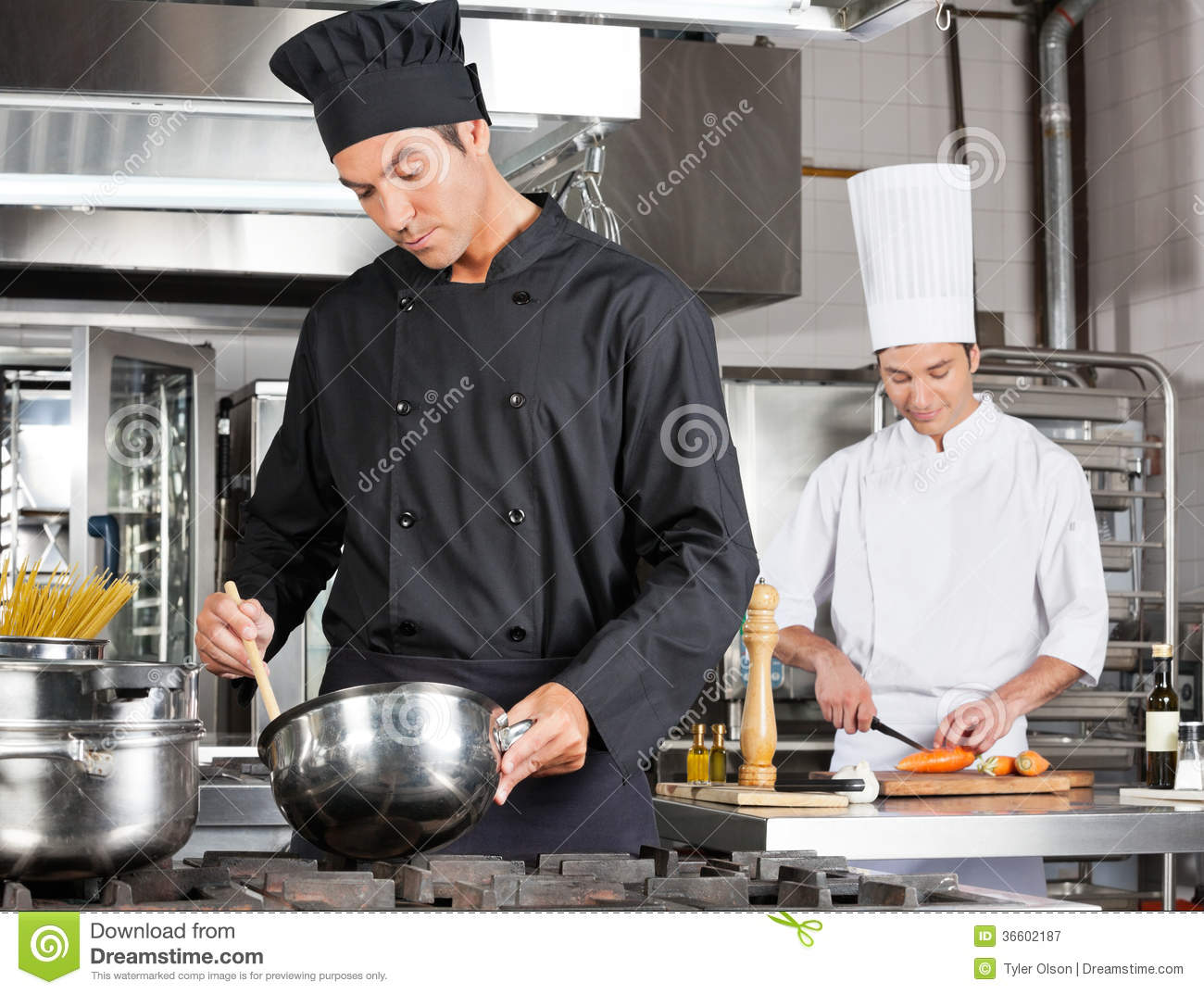 Chef-Cooking Food With-Kollege-Hacken