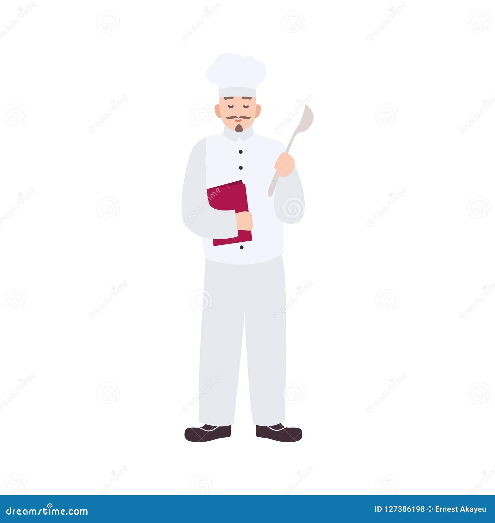 Chef Cuisinier Qualifié Restaurant Cuisine Ou Uniforme De