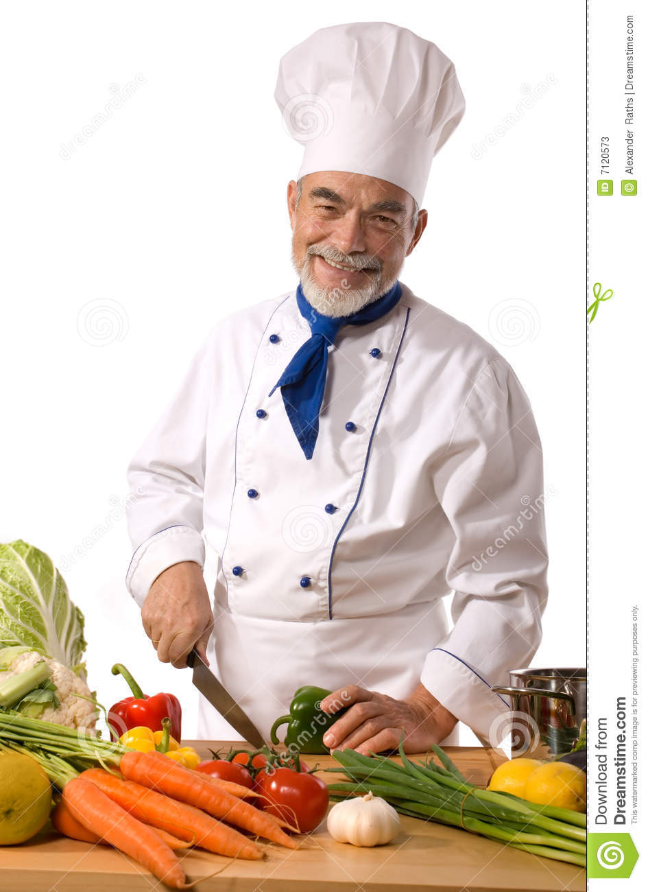 Chef cutting vegetables stock image. Image of plate ...