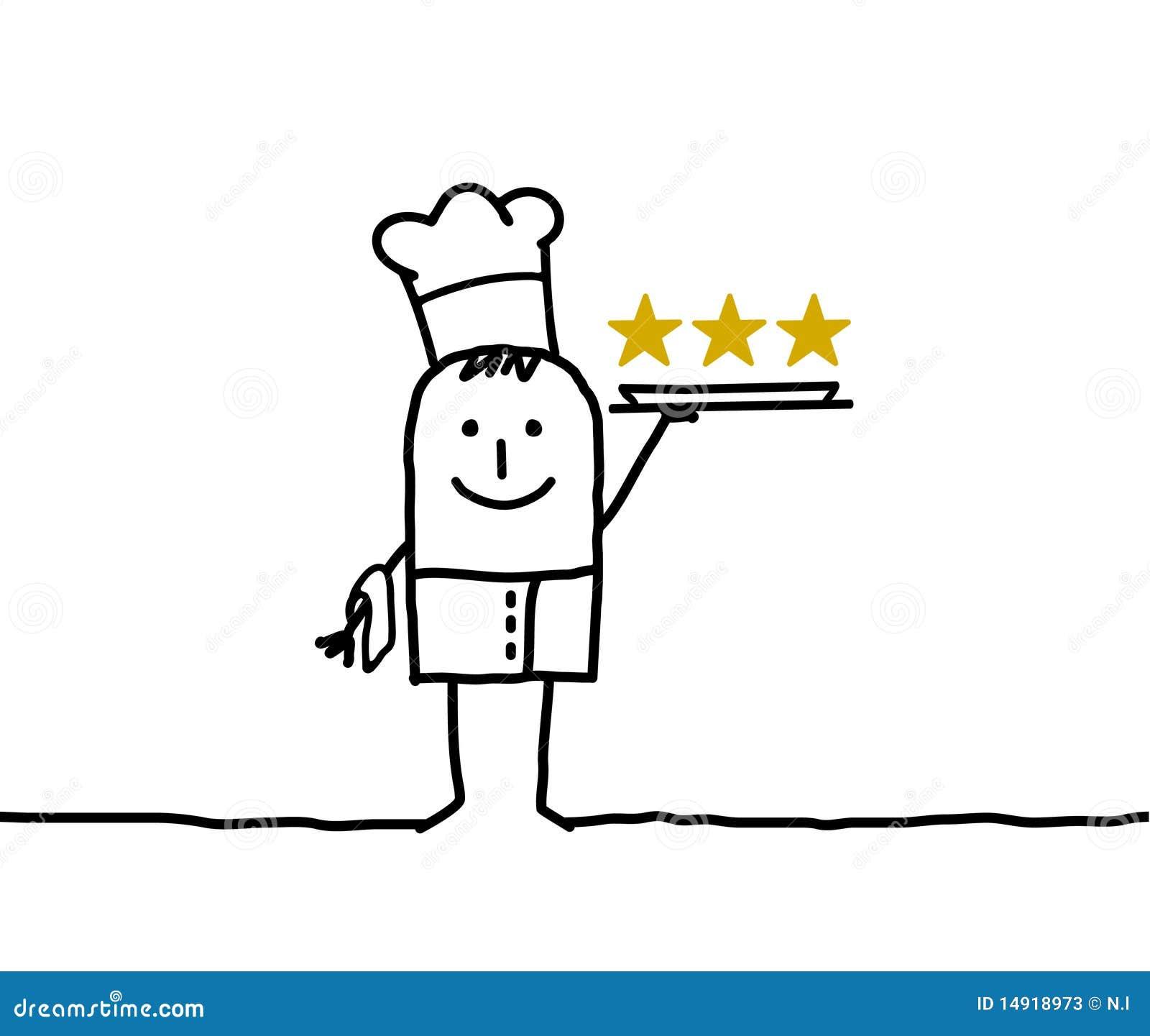 Chef de cuisinier et trois toiles photos stock image for Cuisinier 32 etoiles