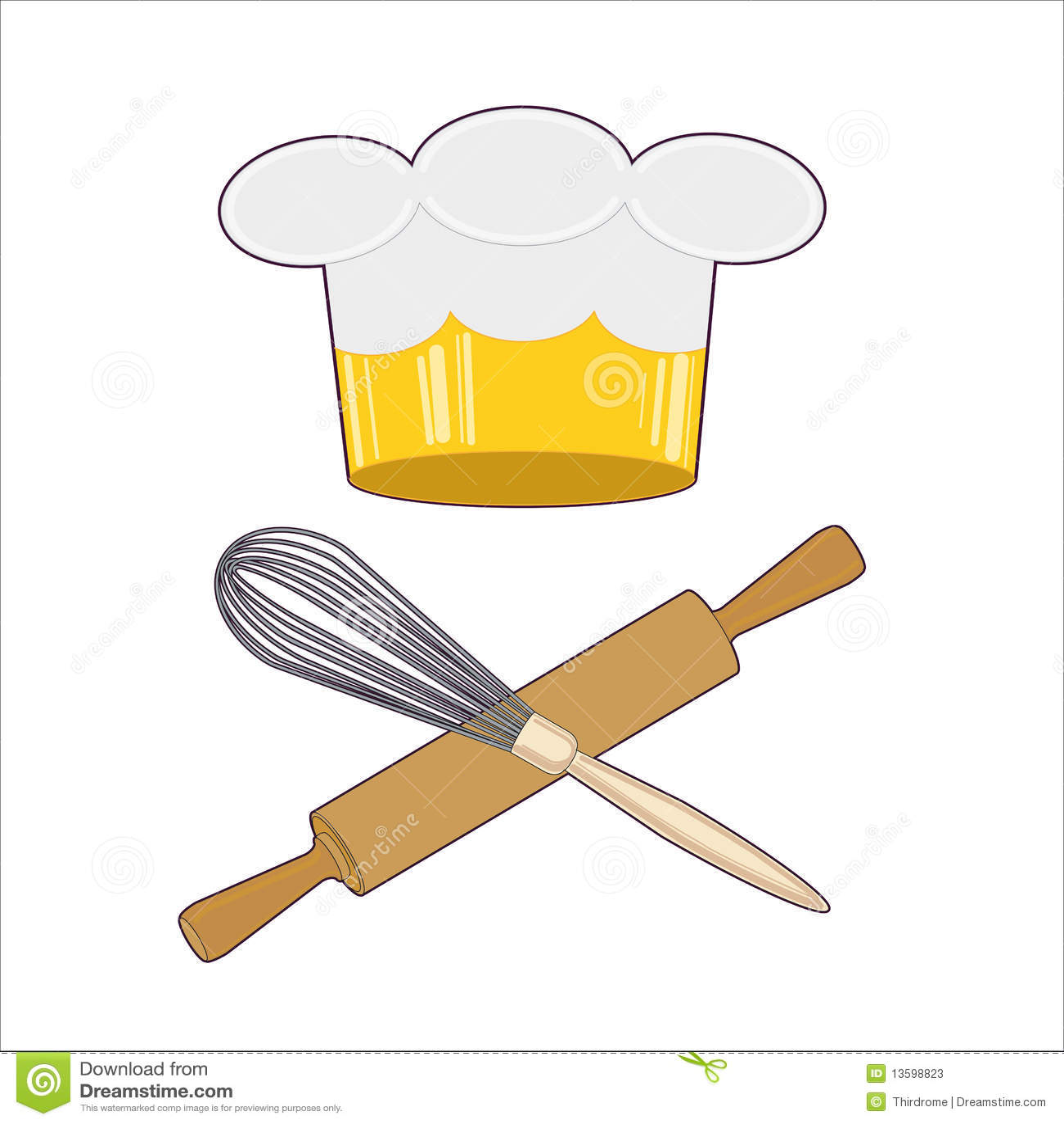 Chef Emblem Stock Vector. Illustration Of Gourmet, Pizza