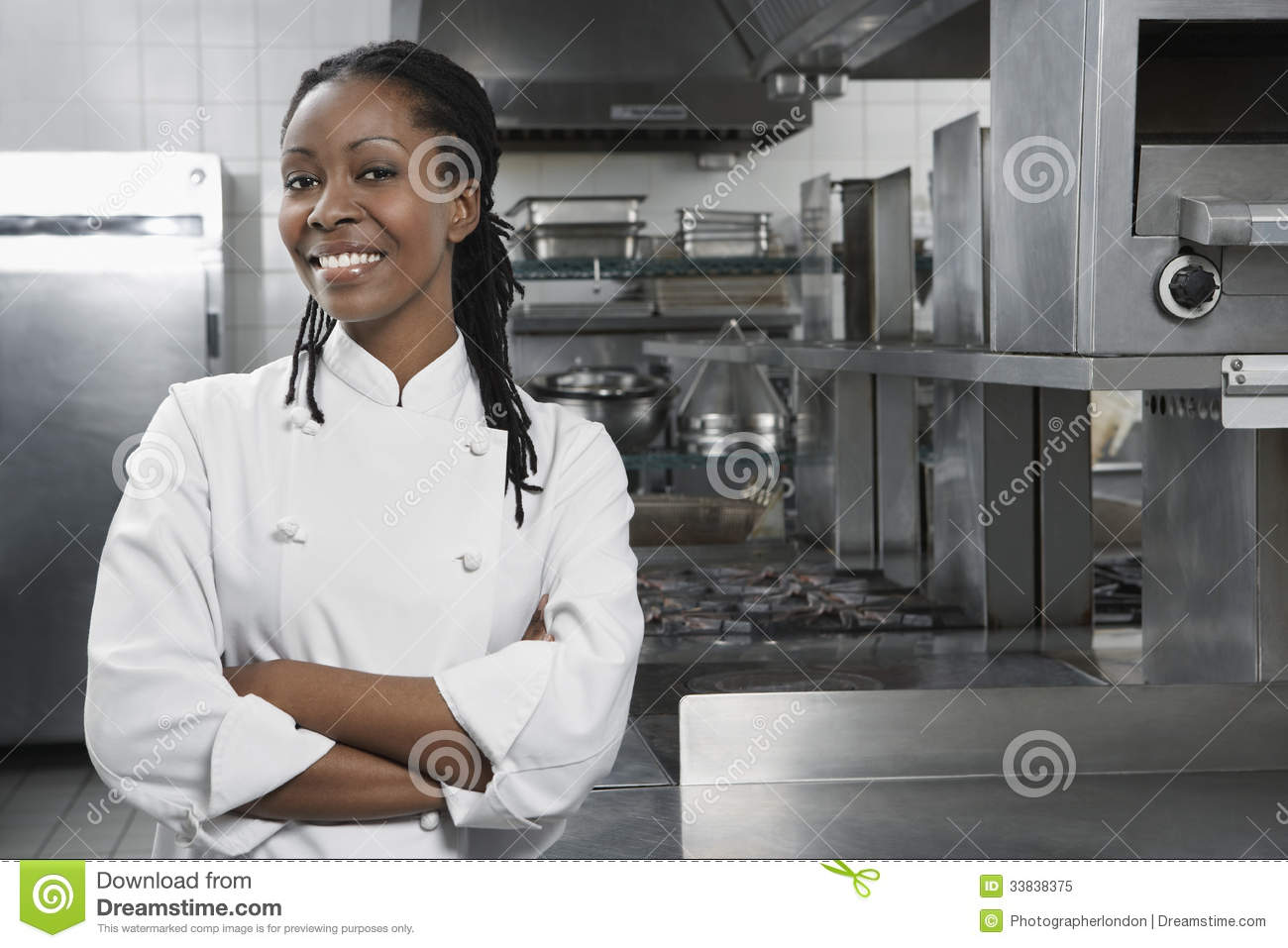 Chef féminin In The Kitchen