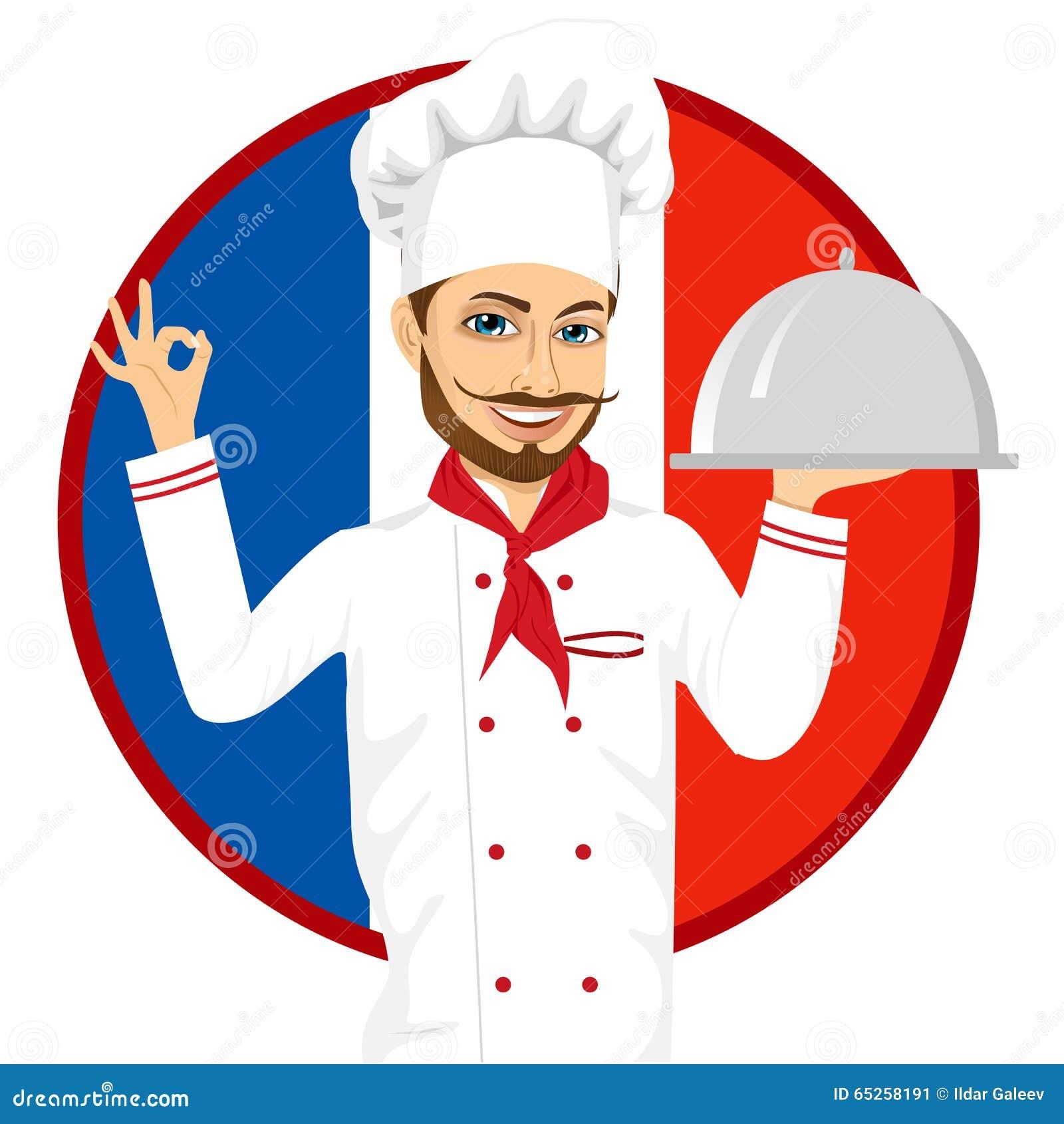 Chef fran ais de cuisine avec la grande moustache dr le for Les francais et la cuisine