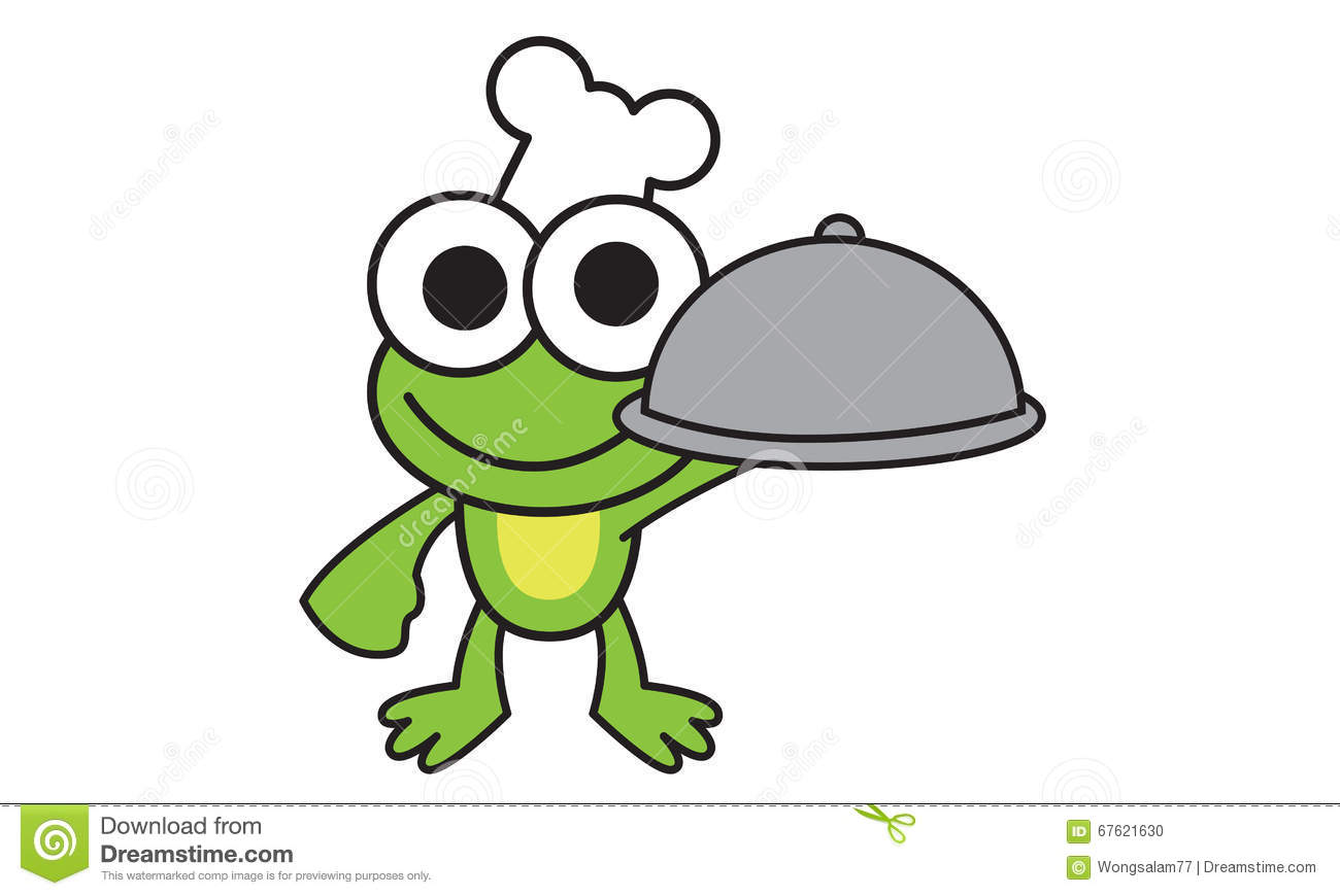 chef frog stock vector illustration of clip amphibian 67621630 rh dreamstime com Leaping Frog Clip Art Cute Frogs