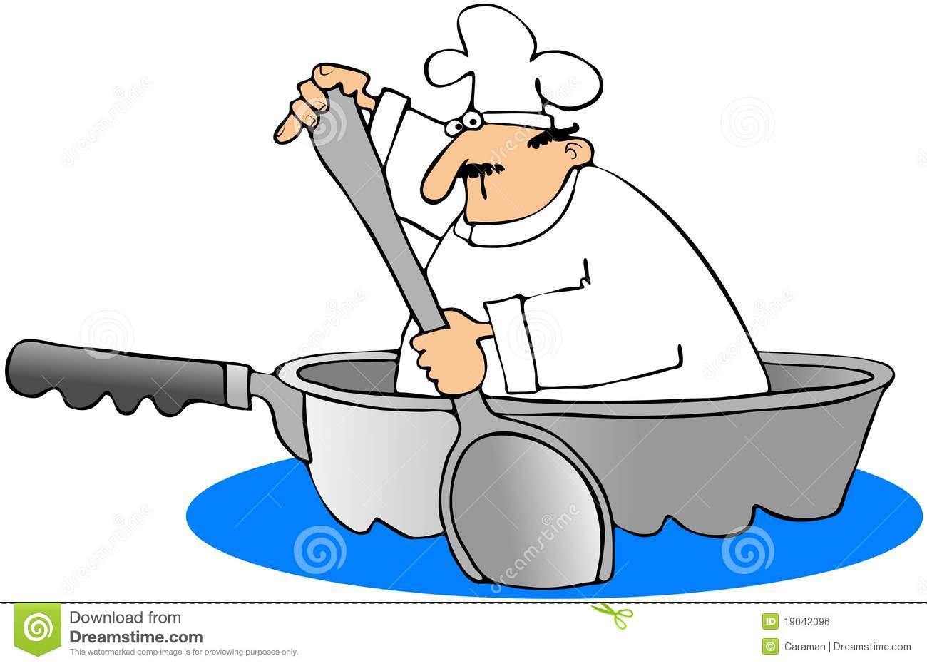 Chef In A Frying Pan Boat