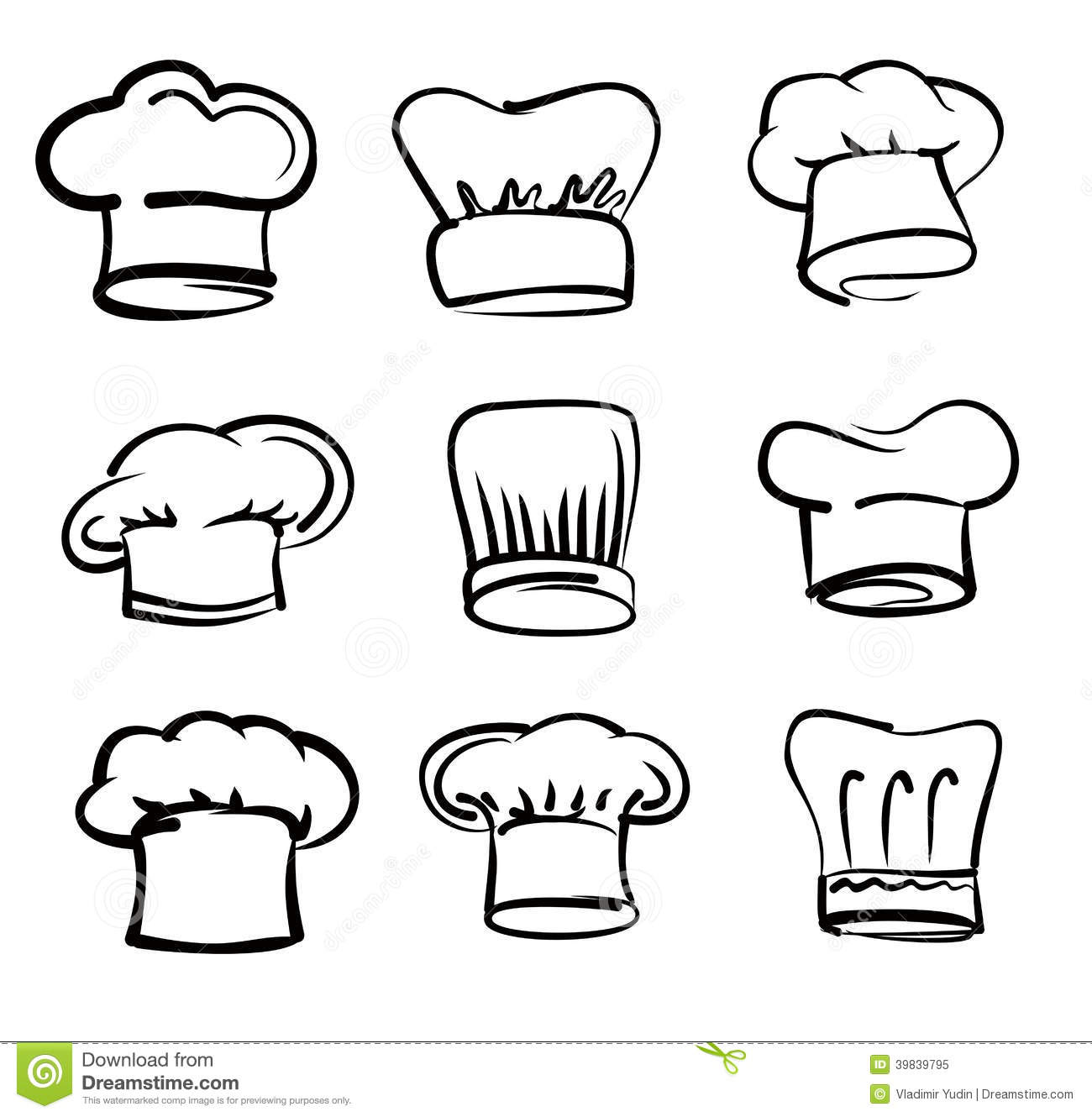 Chef Hat Icons Stock Vector - Image: 39839795