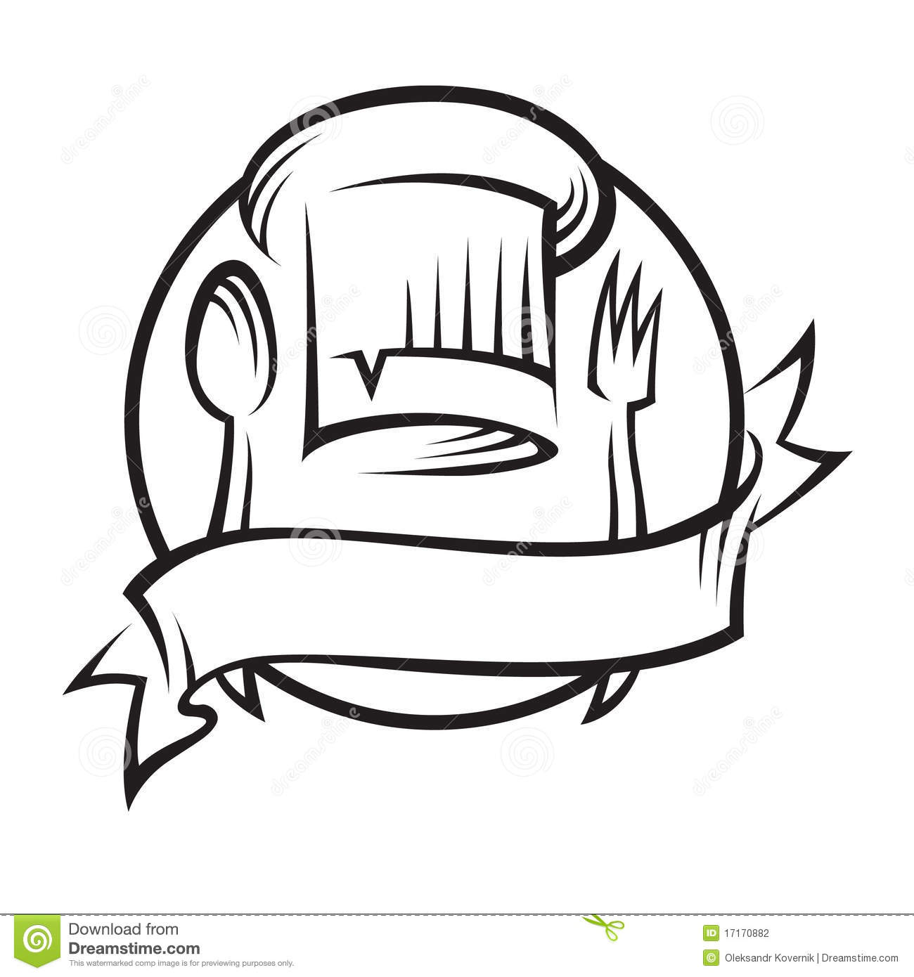 Chef Hat With Spoon And Fork Stock Photography - Image