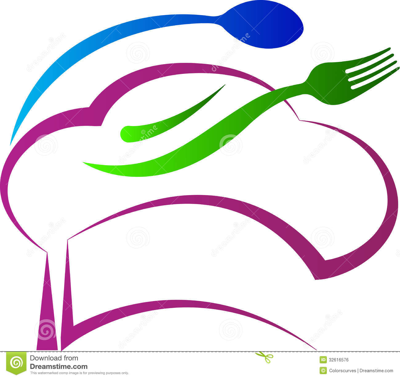 Chef hat spoon fork