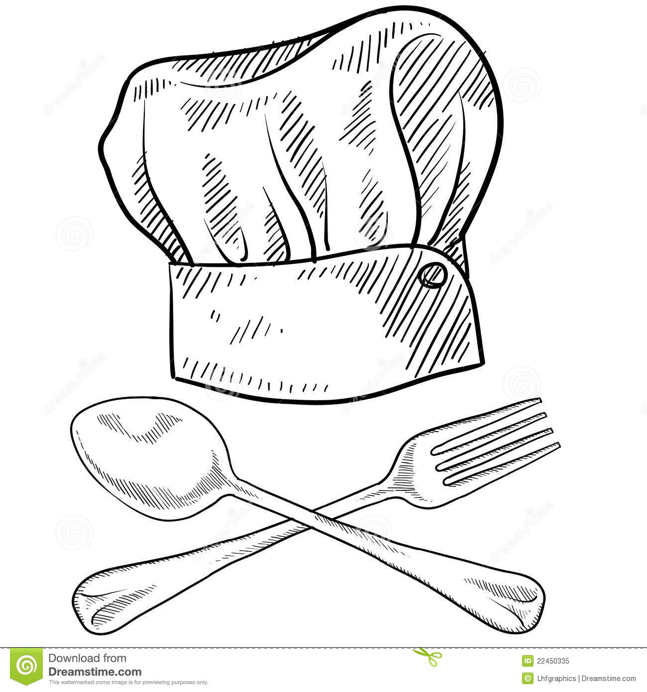 Image result for chef hat drawing