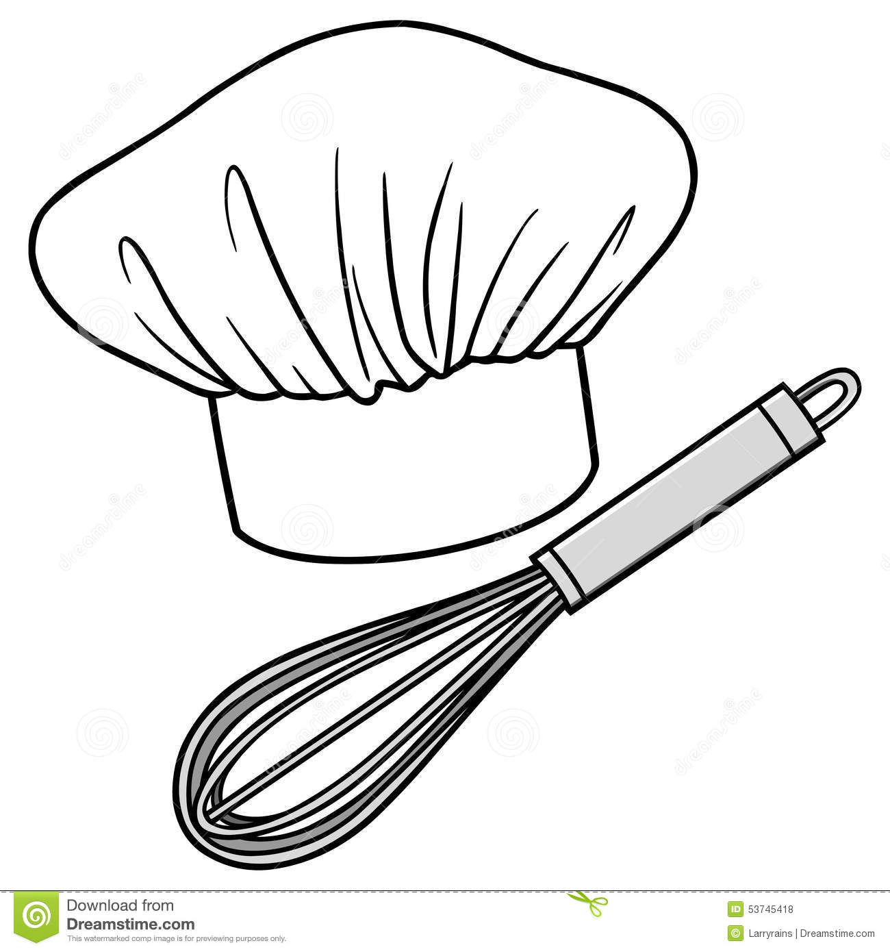 Cartoon Hand Mixer ~ Chef hat and whisk stock vector image