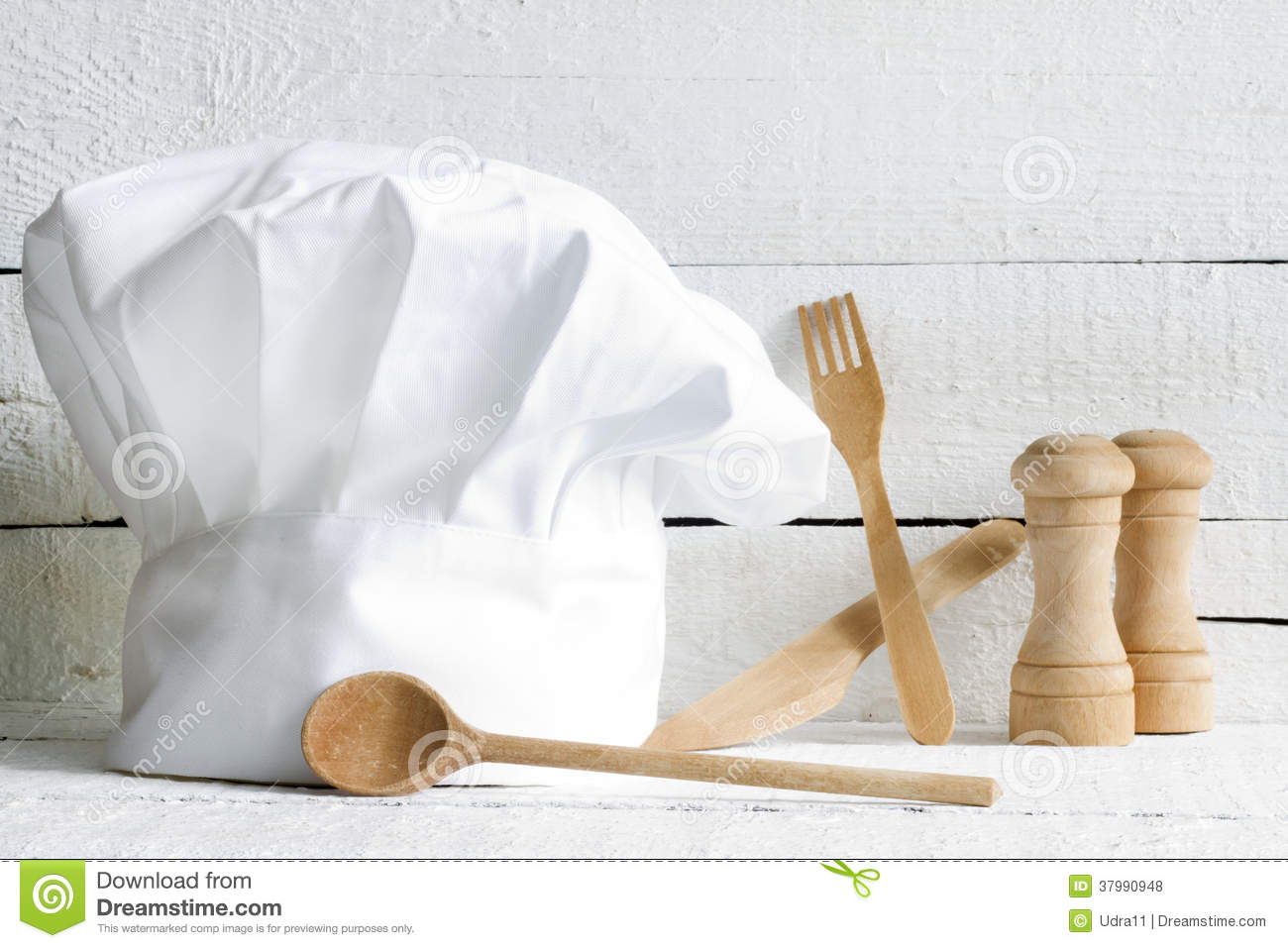 Chef Hat And Wooden Kitchenware Food Abstract Royalty Free ...