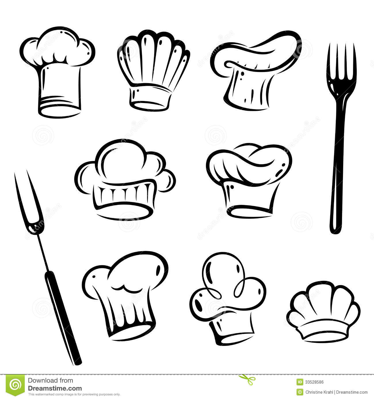 Chef Hats, Cook Royalty Free Stock Image - Image: 33528586