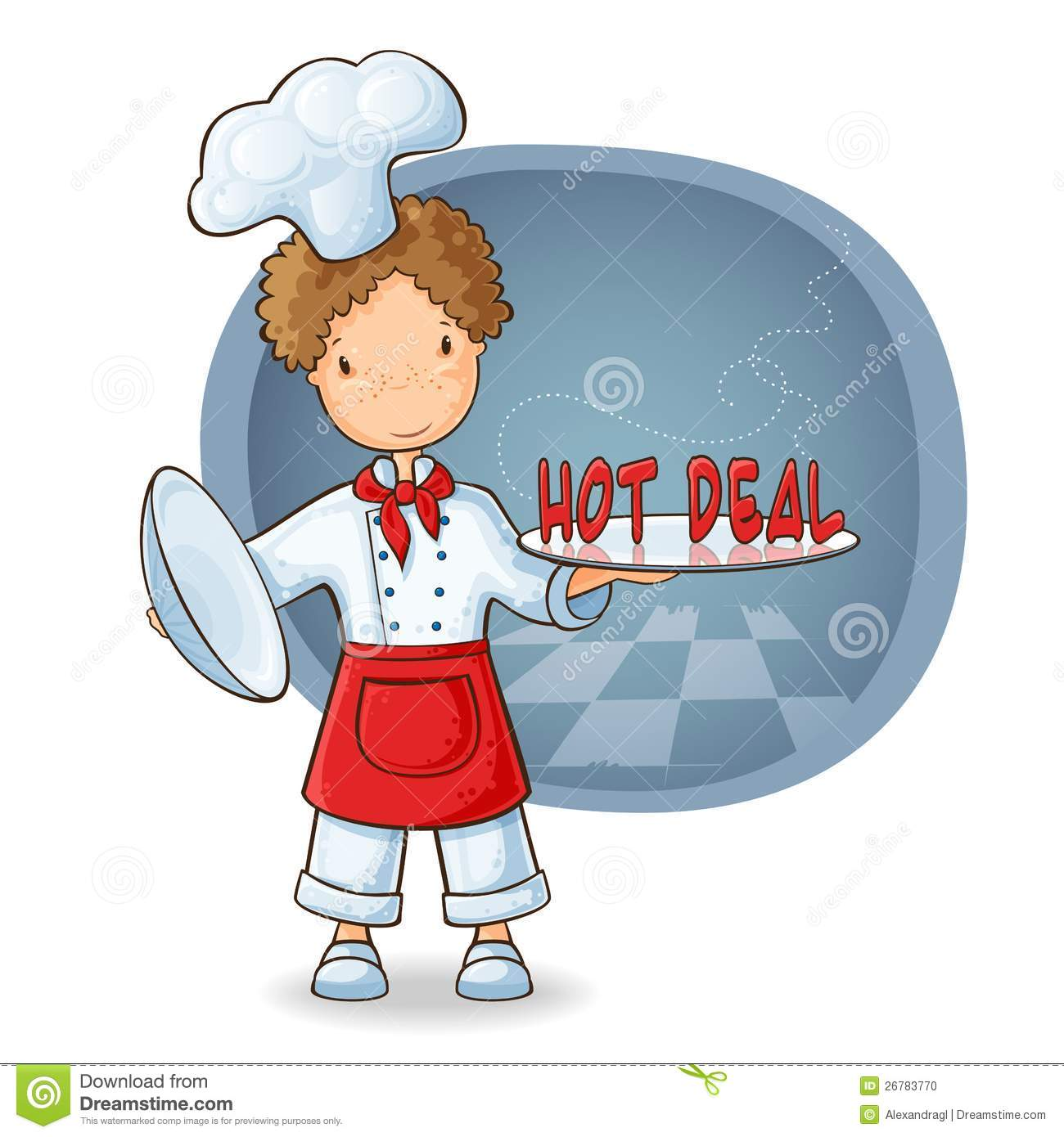 Chef Holding Plate With Text Hot Sale Stock Vector - Image ...